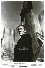 Christopher Lee Horror Of Dracula (Autographed) movie poster print