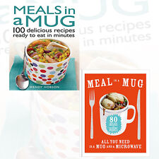 Meals in a Mug Recipes Collection 2 Books Set,100 delicious recipes, Brand NEW