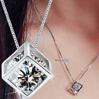 Fashion Women's 925 Sterling Silver Chain Crystal Rhinestone Pendant Necklace