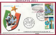 ITALIA FDC FILAGRANO CAMPIONATO ITALIANO CALCIO 1991 92 SAMPDORIA CAMPIONE U652