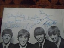 The Beatles Authentic Program Signed 10/09/64 John Lennon's Birthday Autographs