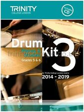 Trinity Guildhall Drum Kit 3 Book +CD 2014-2019. Pieces & Exercises Grades 5 & 6