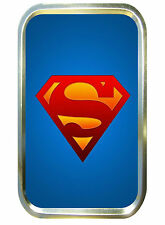 BLUE SUPERMAN 1oz GOLD TOBACCO TIN,PILL TIN,BACCY TIN, POCKET TIN