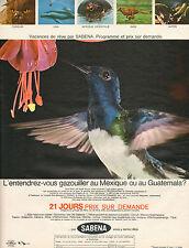 Publicité Advertising 1970  SABENA voyages vacances vols