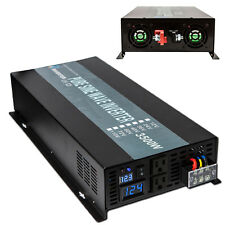 Pure Sine Wave Inverter 3500W Solar Power Inverter 12V DC to 120V AC LED Display