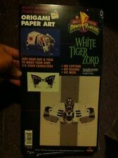 1994 Mighty Morphin Power Rangers - White Tiger Zord (Origami Paper Art) New!
