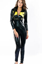Sexy Women's Race Girl Car Racer Fancy Dress Catsuit Costume