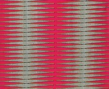 African Fabric 1/2 Yard Cotton Wax Print PINK WHITE YELLOW Abstract