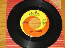 """BEATLES 45 RPM - CAPITOL 5555 - """"WE CAN WORK IT OUT"""" + """"DAY TRIPPER"""""""