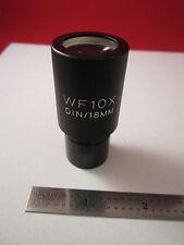 LEICA LEITZ OPTICAL MICROSCOPE PART EYEPIECE WF10X DIN-18 mm  OPTICS BIN#ERGOLUX