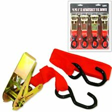 "4 pc 1"" X 15' Ratchet Tie Down Load Binder Cargo Strap"