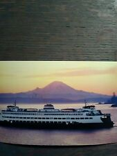 WASHINGTON STATE FERRY THE JUMBO CLASS FERRY POST CARD KINGSTON WASHINGTON