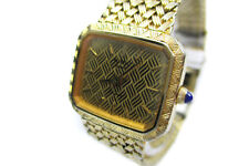 Auth RADO Elegance Gold Dial Gold Plated Women's Quartz Watch RW7408L