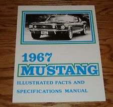 1967 Ford Mustang Illustrated Facts Specifications Brochure Manual 67 Fastback
