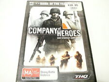 "COMPANY OF HEROES GOTY, PC + ART COLLECTION BOOK  ""preowned""  AUZ SELLER"