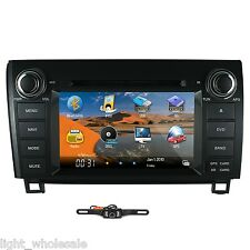 In Dash Car DVD GPS Player Navigation Radio Stereo For Toyota Tundra  +Camera