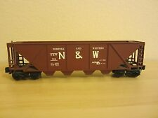 LIONEL O GAUGE 9111 NORFOLK & WESTERN  N&W 4 BAY HOPPER