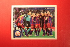 PANINI CHAMPIONS LEAGUE 2011/12 N 551 BARCELONA VICTORY WITH BLACK BACK MINT!!