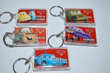 Disney PIXAR CARS Set of 5 Keychains State Farm promo 2006 Tow Mater Lightning
