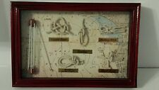 5 various Sailors Knots Shadow Box Wall Decor Nautical Sailing Wood Frame Map