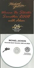 MICHAEL JACKSON w/ AKON Wanna Be Startin Somethin TST PRESS PROMO DJ CD single