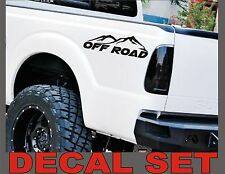 4x4 OFF ROAD Truck Decals Matte Black (Set) for Ford F-150 Super Duty and Ranger