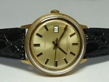 MEN'S CLASSIC 1972 CHAMPAGNE DIAL AUTOMATIC TIMEX WRIST WATCH FOR PARTS / REPAIR