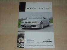 62841) BMW 3er Reihe E46 Cabrio AC Schnitzer S3 Prospekt 200?
