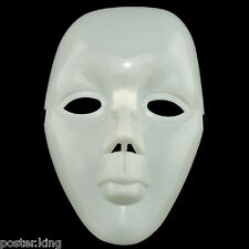 Plain White Blank Girl Women Lady Hard Plastic 3D New Party Halloween Face Mask