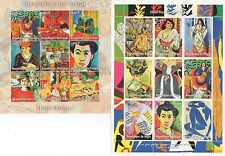PAIR OF FAMOUS ARTIST HENRI MATISSE MNH STAMP SHEETLETS