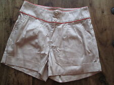 LITTLE MISTRESS SHORTS CREAM AND PEACH HOT PANTS BRAND NEW WITH TAGS SIZE 10
