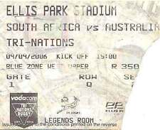 SOUTH AFRICA v AUSTRALIA 9 Sep 1996 RUGBY TICKET at JOHANNESBURG