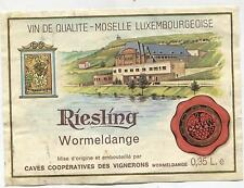 (892) Weinetikett 0,35 l RIESLING Wormeldange Moselle Luxembourgeoise