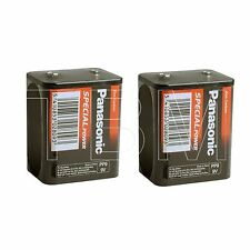 2 Panasonic PP9 Zinc Chloride 9 V Battery for Radio 9v-6F100