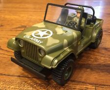 Vintage Battery Operated Military Jeep Walgreens Excellent Condition Damaged Box