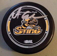 ALEX GALCHENYUK MONTREAL CANADIENS SIGNED OFFICIAL SARNIA STING OHL GAME PUCK