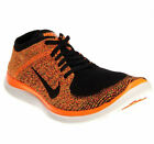 NIKE MEN FREE 4.0 FLYKNIT RUNNING SHOES ORANGE BLACK SIZE 12 NEW 631053-011