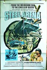 "Steel  Arena 1973 original  27"" x 41"" world champion Hell Drivers!"