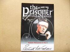 Patrick McGoohan facsímil autógrafo del preso PA1 tarjeta Sdcc Con de San Diego