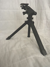 Sturdy Table Top Black Tripod W/Unique Micro Adjustable 2 Way Head & Center