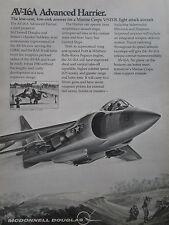 5/1974 PUB MCDONNELL DOUGLAS AV-16A ADVANCED HARRIER V/STOL AV-8A USMC RAF AD
