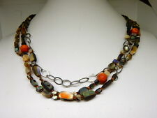 "STERLING SILVER SILPADA ""FIESTA FUN"" 3 STRAND NECKLACE N1563"