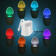 New 8 Colors Toilet Bowl Bathroom Lamp Human Motion Sensor Automatic LED Light