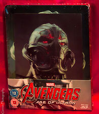 AVENGERS AGE of ULTRON Blu-ray 3D + 2D Lenticular Steelbook - UK Exclusive NEW