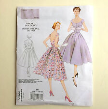 New 50s Dress Pattern 2960 Vogue Vintage 12 14 16 18 ff 34 36 38 40 fit flare