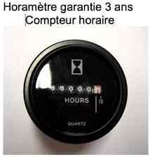 Horamètre compteur Horaire 12 ou 24  volts garantie 3 ans