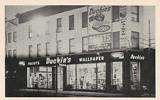 Duchin's Paints and Wallpaper Store in Elizabeth NJ Postcard