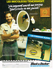 PUBLICITE ADVERTISING 054  1980  BLACK & DECKER   perceuse D208  LES BRICOLEURS