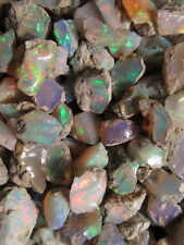 50 Carat Lot of Ethiopian Welo Opal Rough Good Play of Color!