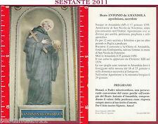 2671 SANTINO HOLY CARD BEATO ANTONIO ANTONIUS DA AMANDOLA AMANDULA AGOSTINIANO